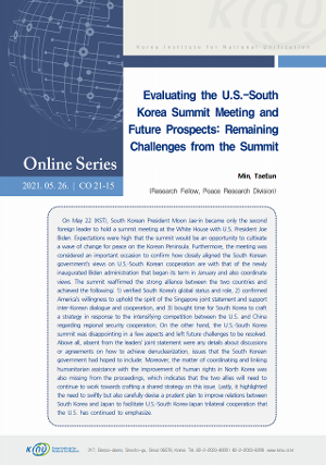 Evaluating the U.S.-South Korea Summit Meeting and Future Prospects: Remaining Challenges from the Summit