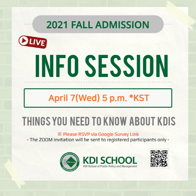 [RSVP] Online Info Session(입학설명회) for 2021 Fall Admissions (~April 5)
